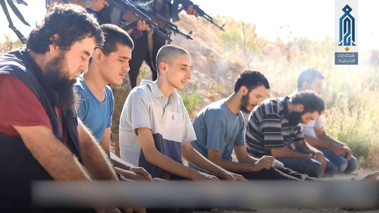 The HTS killed these men, accusing them of being IS bombers