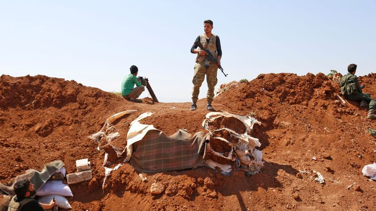 Rebel forces are preparing for a government offensive