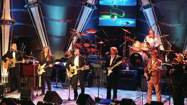 The Eagles were inducted into the Rock & Roll Hall of Fame in New York in 1998
