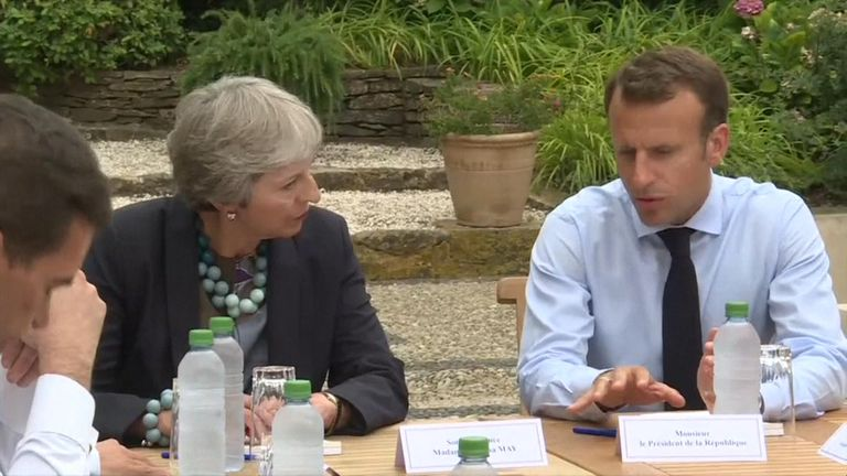 Theresa May and Macron have had discussions at