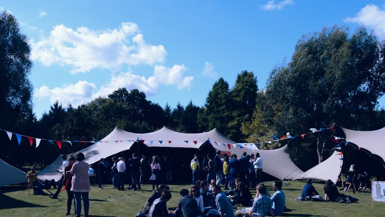 The Bit Tent Ideas Festival, dubbed the 'Tory Glastonbury'