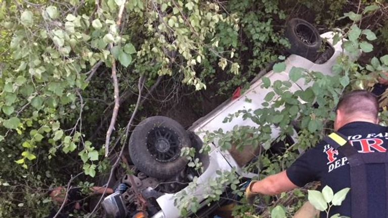 The man was trapped under a vehicle for two days. pUC: Bonneville County Sheriff's Office
