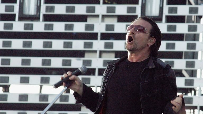 DUBLIN, IRELAND - June 27: U2 Play Croke Park, Dublin, Ireland, June 27 2005.