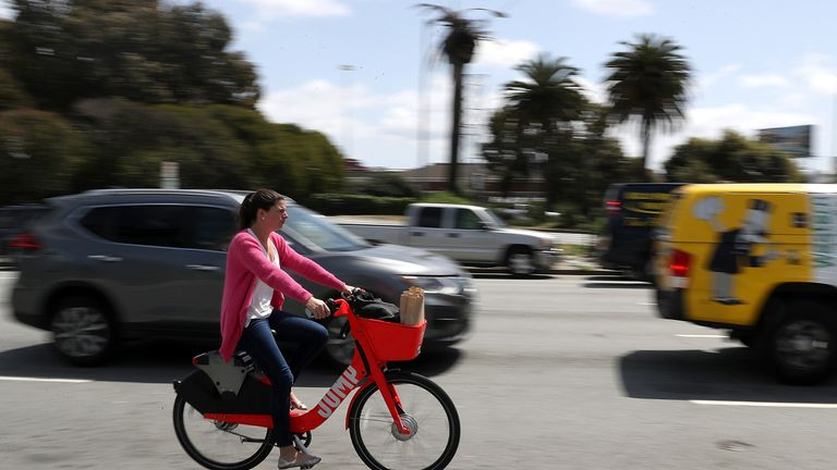 Uber bought bike-sharing firm Jump earlier this year