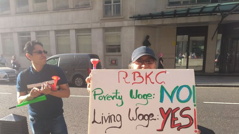 Workers say they struggle to survive on their current wages. Pic: United Voices of the World