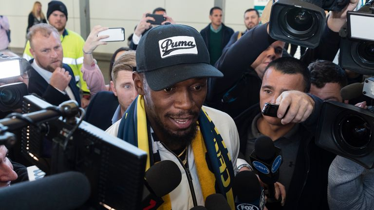 Usain Bolt Arrives In Sydney Ahead Of Trial With Central Coast Mariners