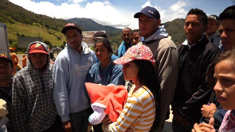 People are leaving Venezuela despite facing a walk of 2,000km to do so