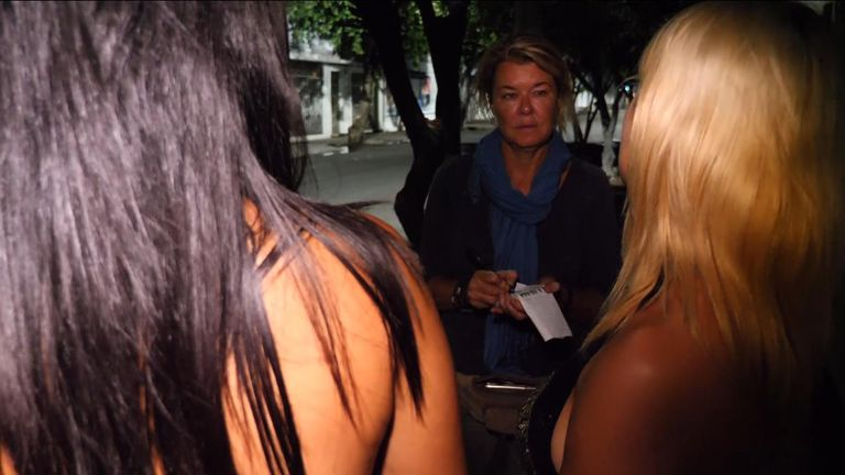 Sky's Alex Crawford speaks to sex workers in Venezuela