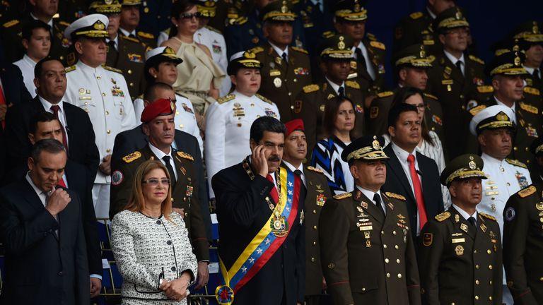 Venezuelan President Nicolas Maduro and his wife Cecilia
