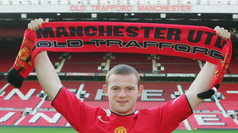 Wayne Rooney was one of the most high-profile deadline day moves ever, joining Manchester United on 31 August 2004