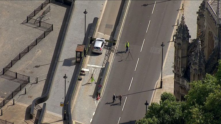 The Ford Fiesta hit cyclists and pedestrians before coming to a stop
