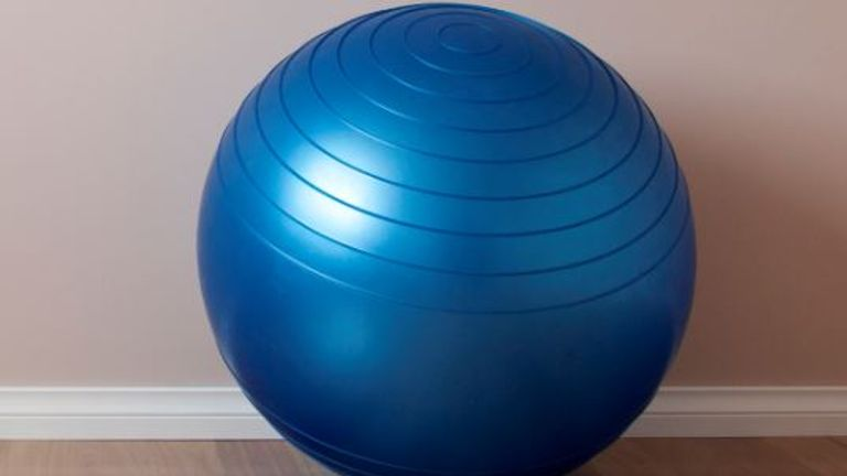 The yoga ball was filled with carbon monoxide