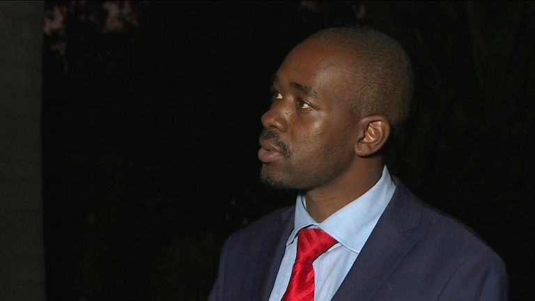 "Nelson Chamisa vows to challenge the election result after claiming the president is ""in cahoots"" with the electoral commission."