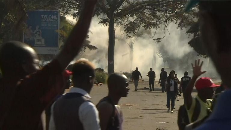 There has been unrest in Harare