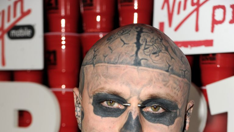 Zombie Boy is understood to have fallen from a balcony