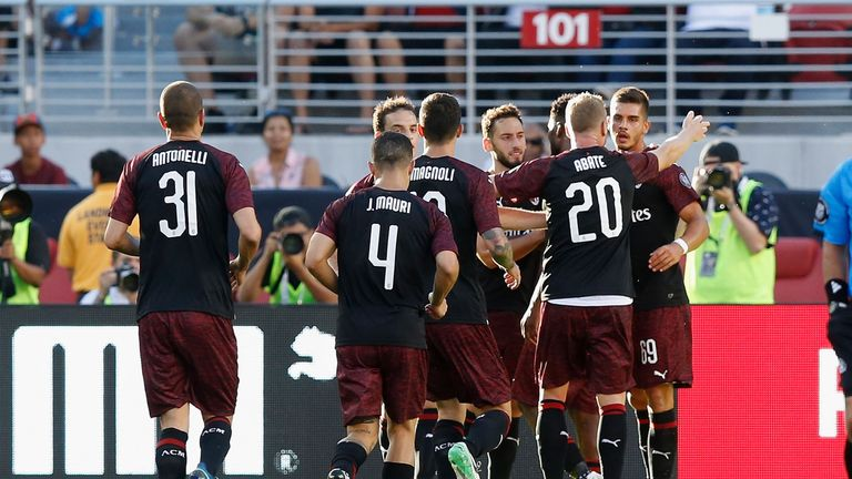 Ac Milan   Barcelona Andre Silva Scores Injury Time Winner