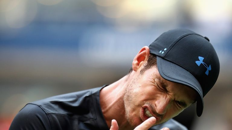 Andy Murray was knocked out in the second round of the US Open