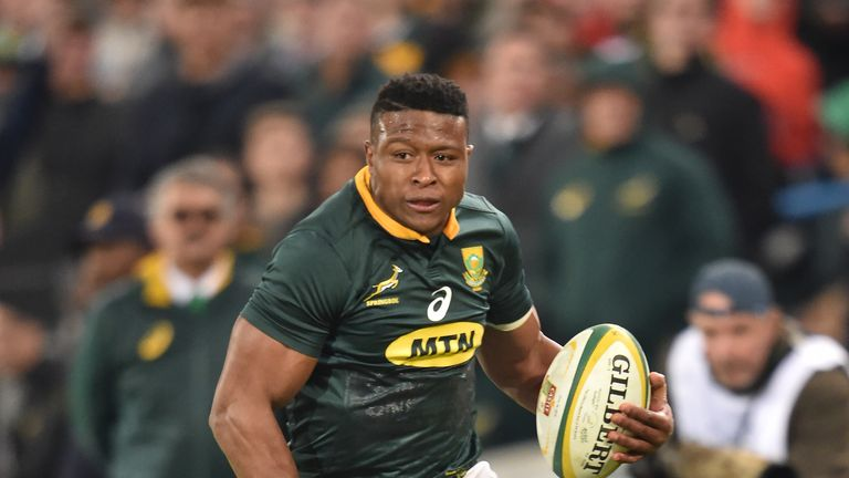 Aphiwe Dyantyi spoke to Sky Sports about comparisons with legendary winger Bryan Habana, and the Xhosa celebration he took part in ahead of South Africa's Test against New Zealand