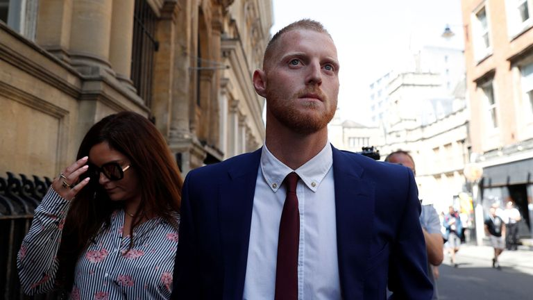 Ben Stokes trial: Jury shown CCTV footage of 'groin grab'
