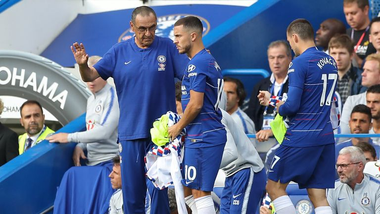 Chelsea boss Maurizio Sarri surprised by Rafa Benitez's defensive tactics
