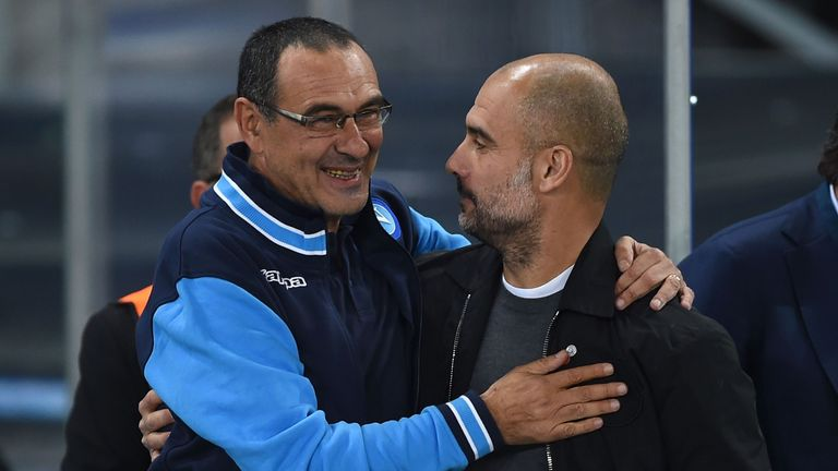 Chelsea head coach Maurizio Sarri jokes he doesn't know how to beat Manchester City as he has never beaten a Pep Guardiola side before