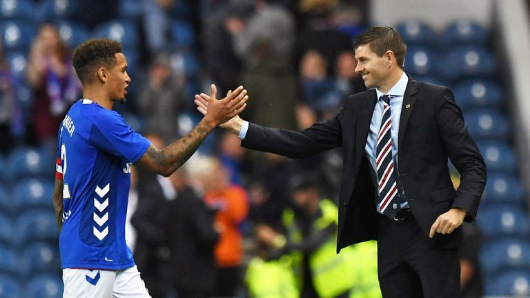 0:43                                               Rangers boss Steven Gerrard says captain James Tavernier will not go cheaply amid reported interested from Brig