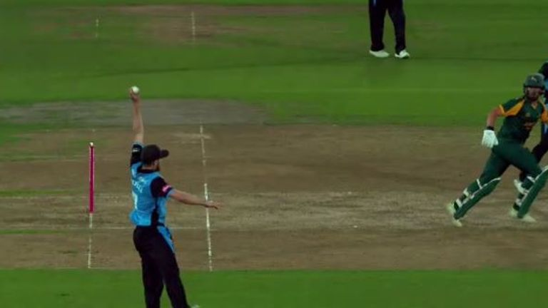 Wayne Parnell caught Riki Wessels brilliantly at mid-on