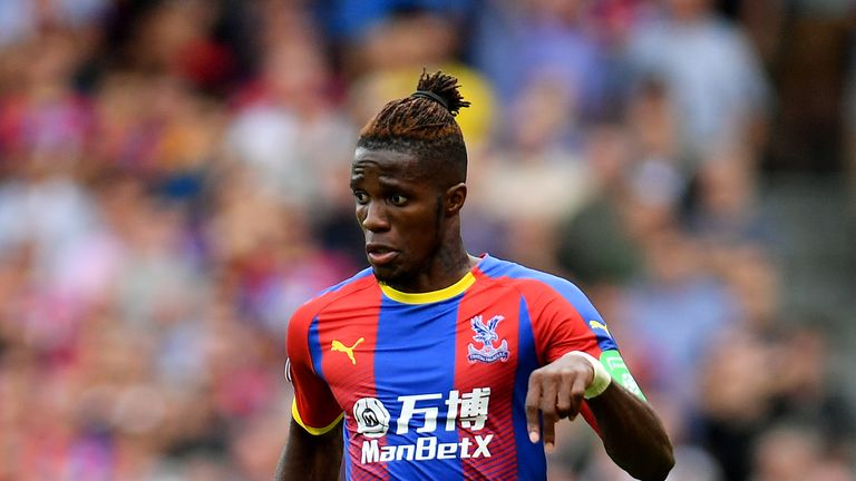 Crystal Palace manager Roy Hodgson provides Wilfried Zaha injury update
