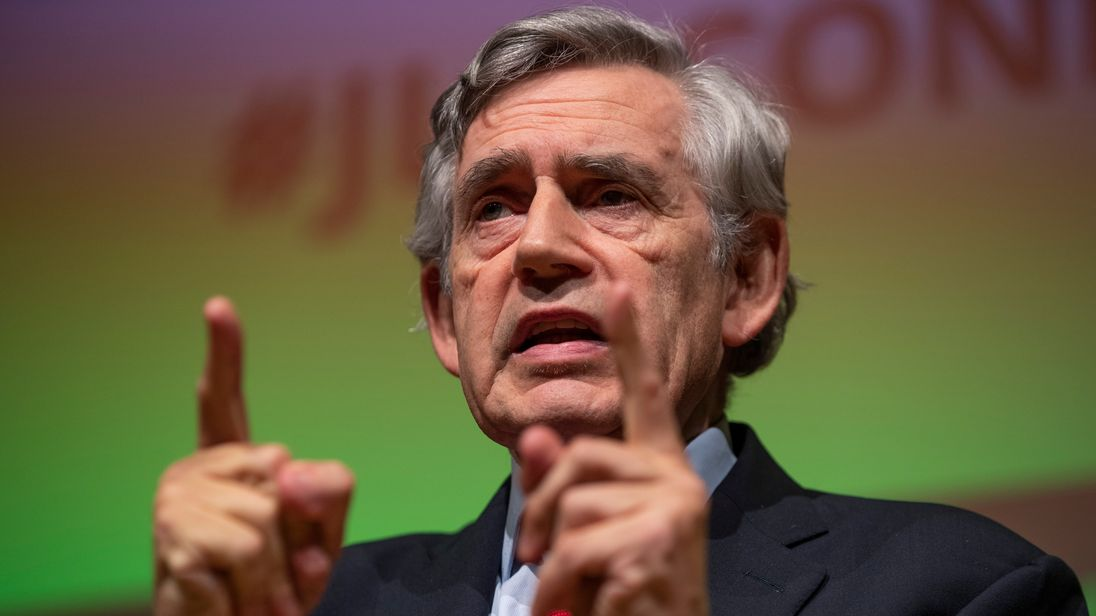 Former Labour Prime Minister Gordon Brown attends the 'Jewish Labour Movement Conference'