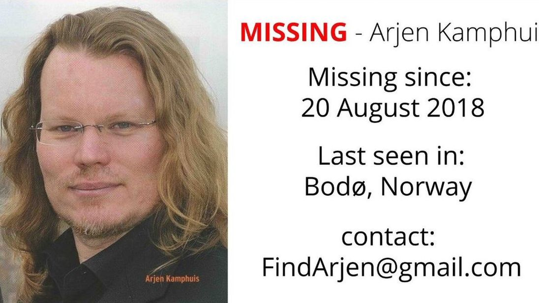 Arjen Kampahuis has been missing since August
