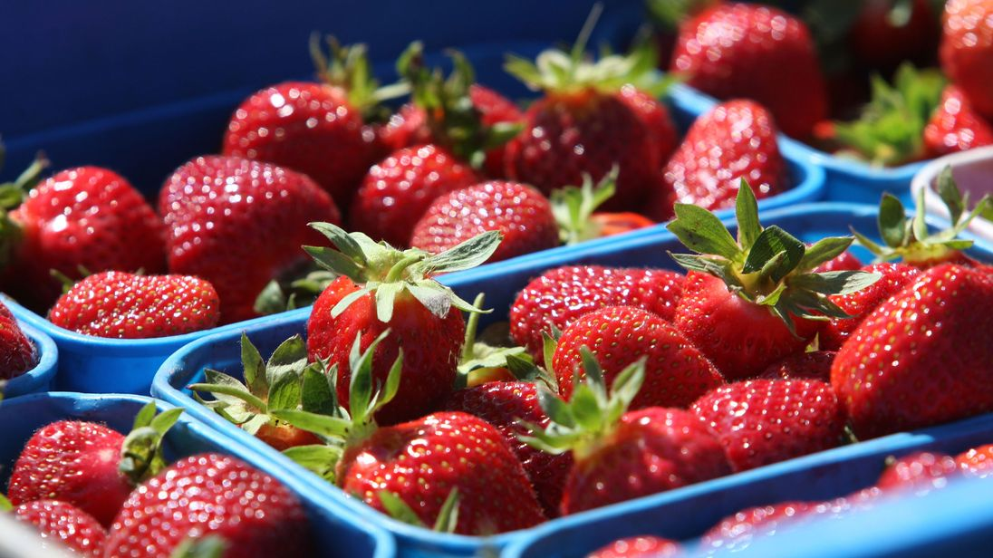 Warning over needles in strawberries