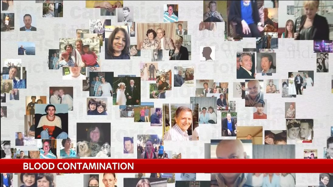 Some of the thousands of victims of the infected blood scandal