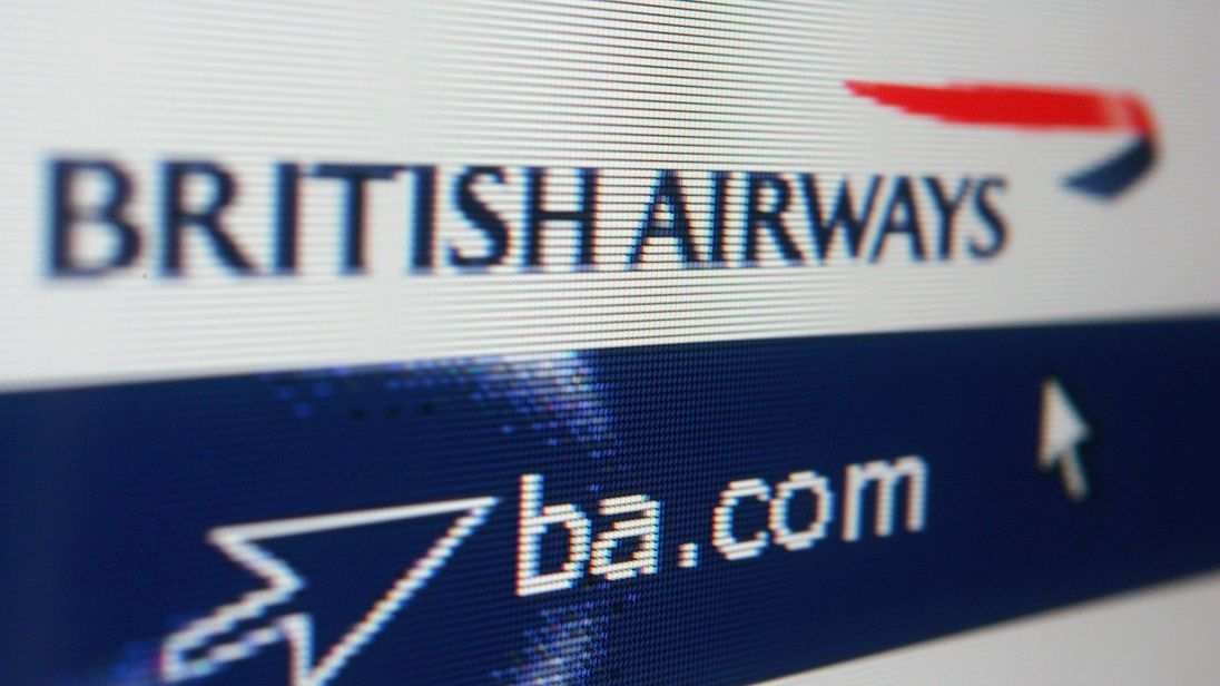 LONDON - MAY 10: In this photo illustration the homepage of British Airways is displayed on a computer screen on May 10, 2006 in London, England. (Photo Illustration by Daniel Berehulak/Getty Images)