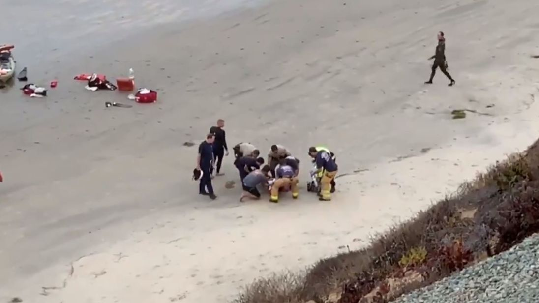 Shark attacks teen at beach in Encinitas, California