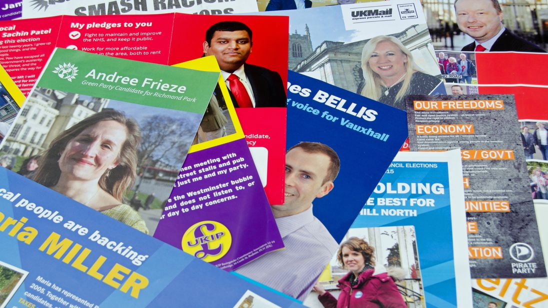 General Election leaflets, UK 2015 - Stock image