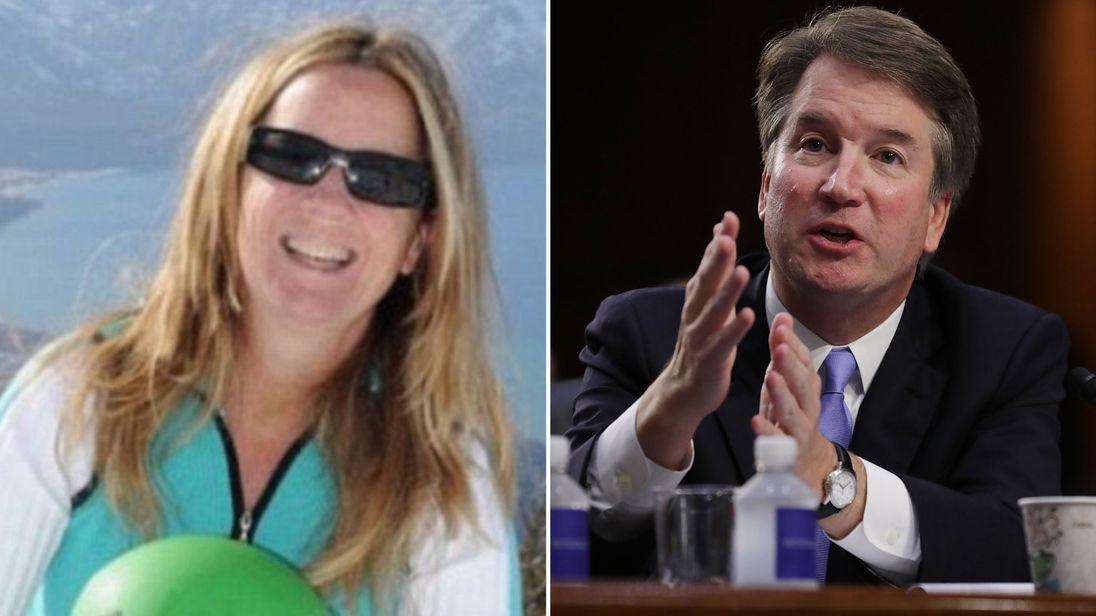Christine Blasey Ford (pic: Researchgate.org) and Brett Kavanaugh