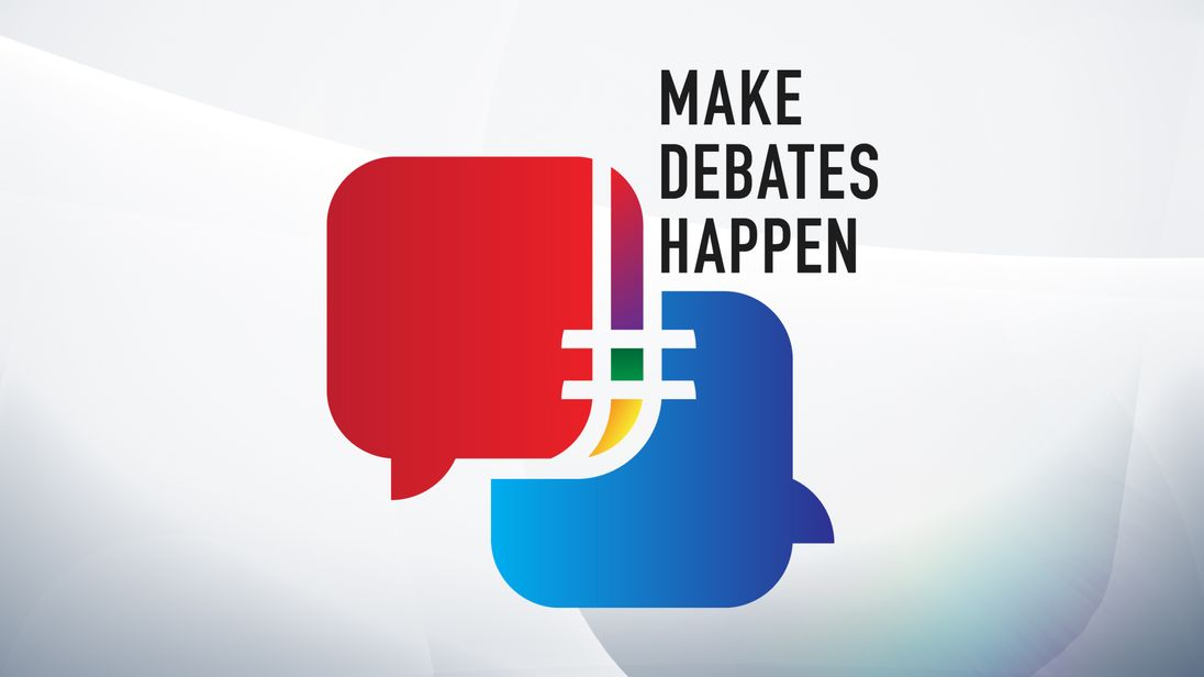 sign up to leaders debate campaign