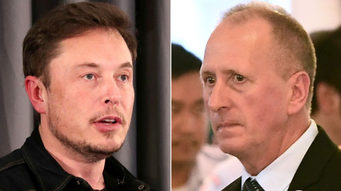 Elon Musk and Vernon Unsworth