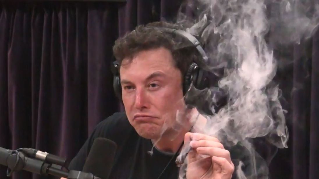 Tesla's stock is hit after Musk is filmed smoking and executives leave