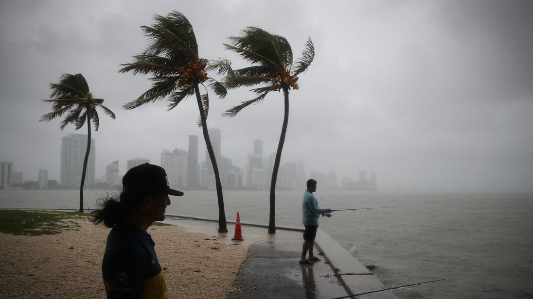 Gordon brought heavy rain and wind to Miami on Monday