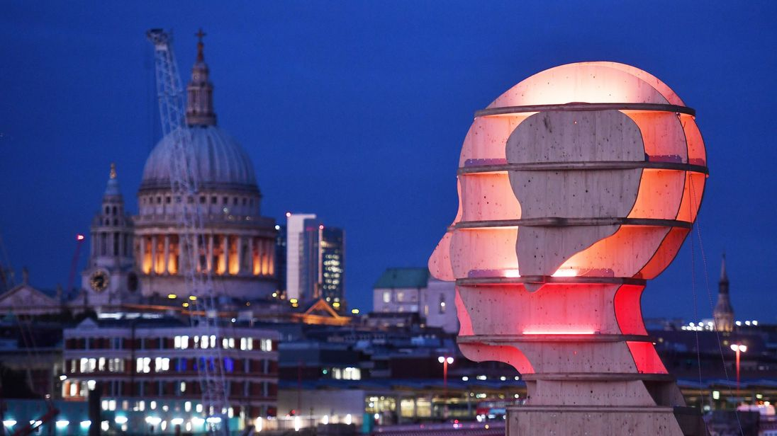 The wooden sculpture will be unveiled on London's South Bank on Saturday