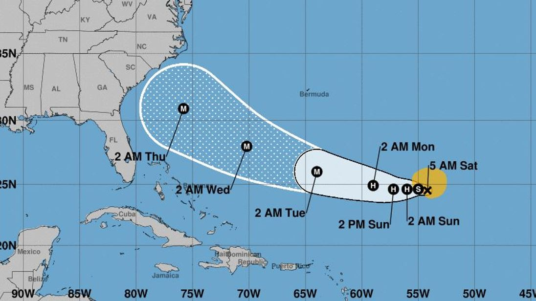 Strengthening Hurricane Florence blasts toward U.S. East Coast