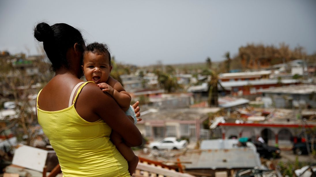 Tens of thousands of people were displaced by Hurricane Maria