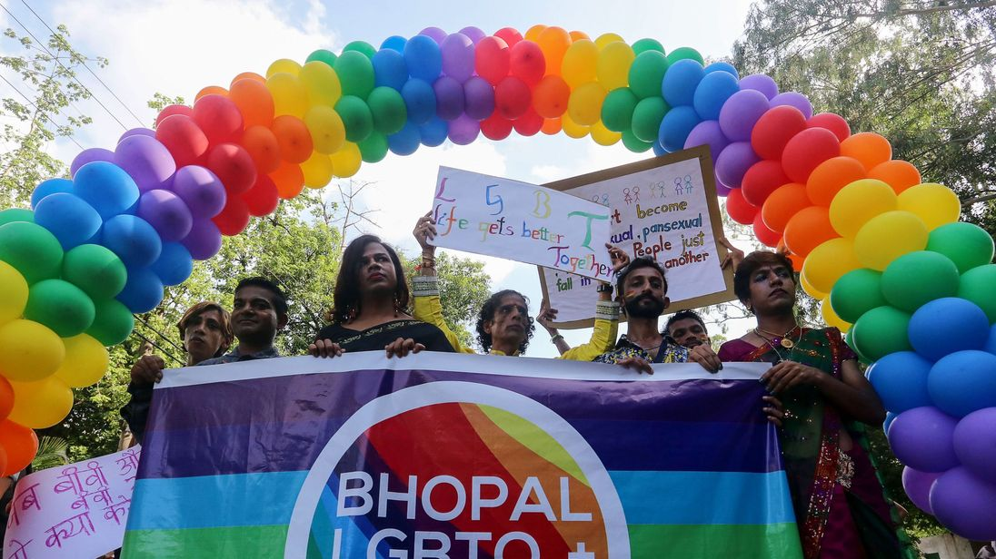 India decriminalises gay sex in a historic ruling