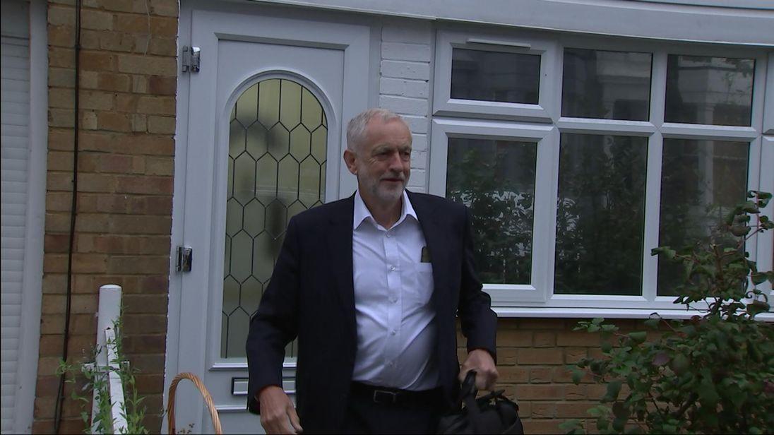 Jeremy Corbyn doorstepped on 05/09