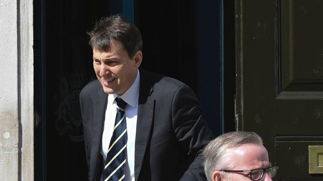 Treasury minister John Glen Pic: Steve Back/@PoliticalPics