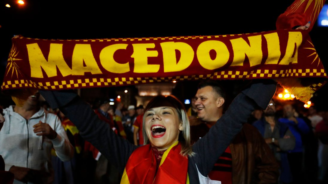 European Union urges all sides to 'respect' Macedonia name change vote