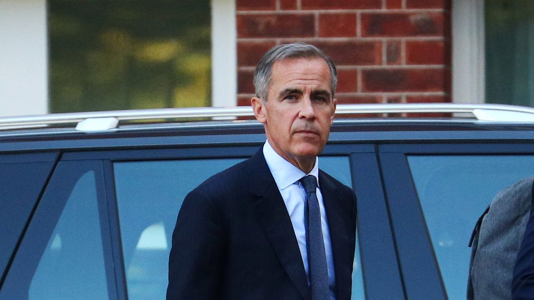 Mark Carney, Governor of Bank of England leaves Downing Street