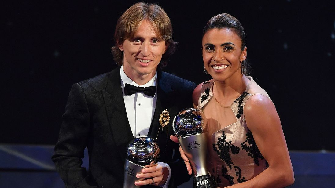Luka Modric wins FIFA Best Player of the Year award