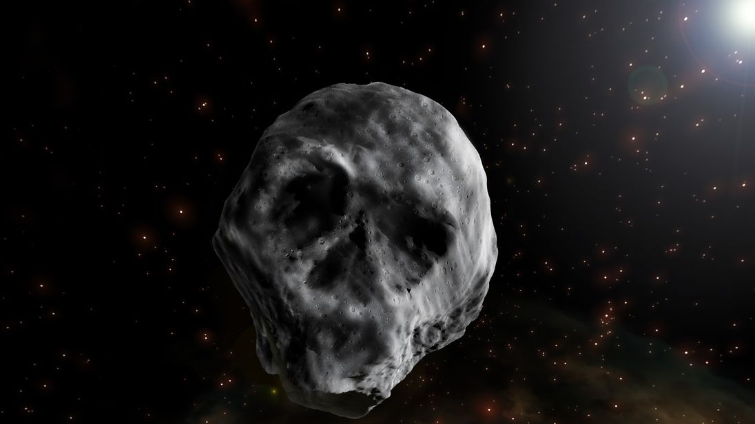 An artist's impression of Asteroid 2015 TB145. Pic: Jose Antonio Pena/Since